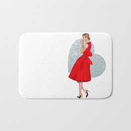 Hearts on Fire Bath Mat