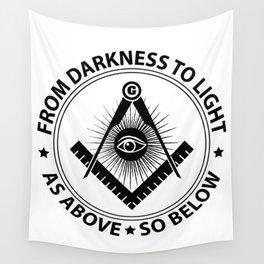 Freemasonry emblem Wall Tapestry