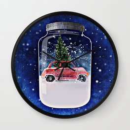 Christmas in a Bottle Wall Clock