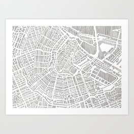 amsterdam city print Art Print
