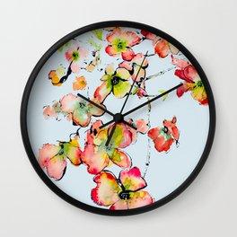 shiney petals Wall Clock