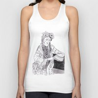 ethnic Tank Tops featuring Ethnic Girl by Katya Zorin