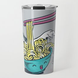 The Great Wave of Noodles with chopstick Travel Mug