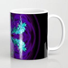 Blue flowered globe abstract Coffee Mug