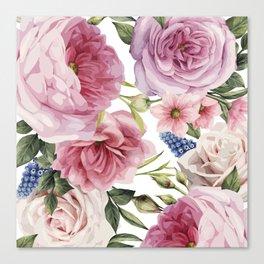 WATERCOLOR ROSES Canvas Print