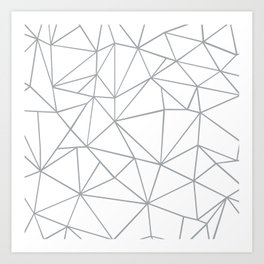 Ab Outline 2 Grey on White Art Print