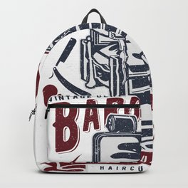 Vintage Barber Shop Backpack