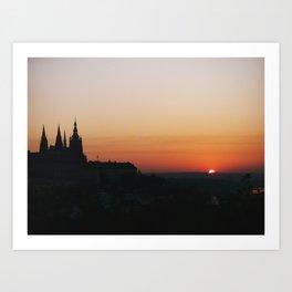 Praha Sunrise Art Print