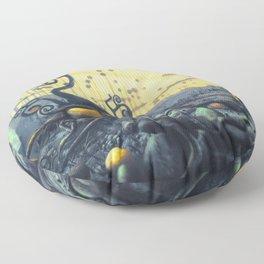 Yellow Eggs in Pistachio Forest Floor Pillow