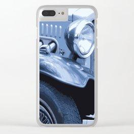 BLUE ANTIQUE CAR Pop Art Clear iPhone Case