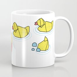Mother Goose and her Ducklings going out for a swim Coffee Mug