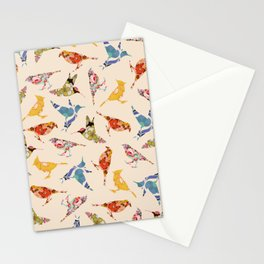 Vintage Wallpaper Birds Stationery Cards
