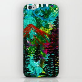Go Wild - Mountain - Abstract painting iPhone Skin