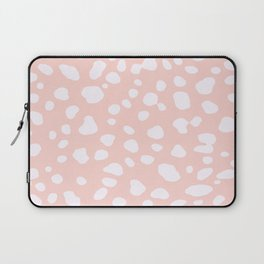 Pink Coral Spotty Dots Laptop Sleeve