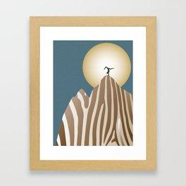 Moonlight Yoga over the Zebra Mountain Framed Art Print