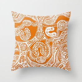 Bloodlines - Burnt Country Throw Pillow