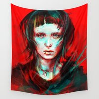 face Wall Tapestries featuring Wasp by Alice X. Zhang