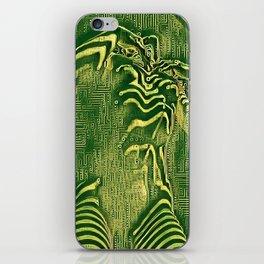 1700s-AK Zebra Striped Female Motherboard Artwork by Maher iPhone Skin
