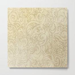 Billowing - Natural White Metal Print