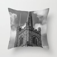 medieval Throw Pillows featuring Medieval Church by David Pyatt