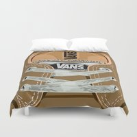 vans Duvet Covers featuring Cute brown Vans all star baby shoes apple iPhone 4 4s 5 5s 5c, ipod, ipad, pillow case and tshirt by Three Second