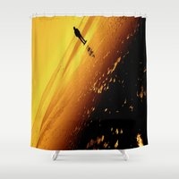 mars Shower Curtains featuring Mars by okelsc