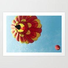 Up, Up and Away - Hot Air Balloon Art Print