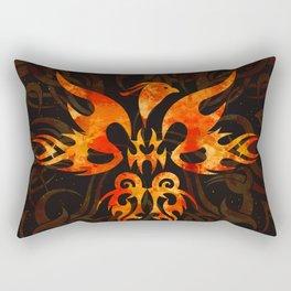 Fire Phoenix Bird Rectangular Pillow