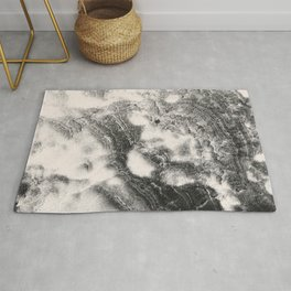 Marble Flow - Black & Cream Rug