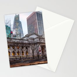 New York Public Library : old vs new buildings Stationery Cards