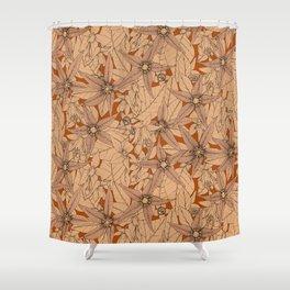 deadly nightshade rust Shower Curtain