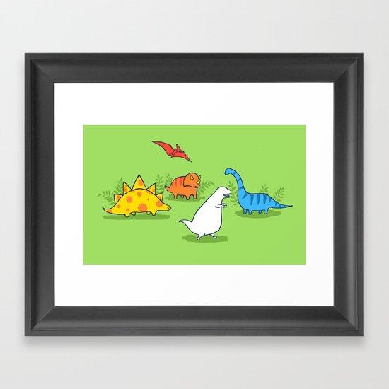Albinosaur Framed Art Print