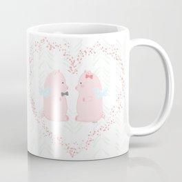 I believe love flies - Flying Pigs Couple Coffee Mug