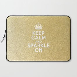 Keep Calm & Sparkle On Laptop Sleeve