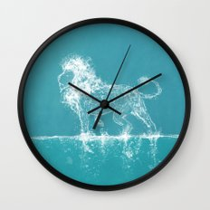 The Water Lion Wall Clock