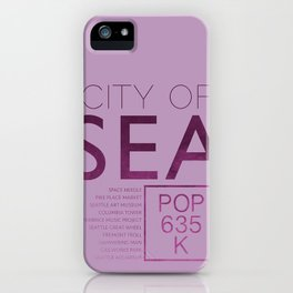 The City of Seattle iPhone Case