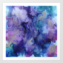 Watercolor Ink Abstract Art Print