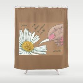 Je t'aime...un peu...beaucoup Shower Curtain