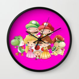 Pink Plumber's collection Wall Clock