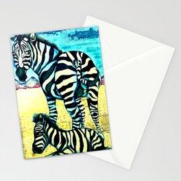 blue zebras Stationery Cards