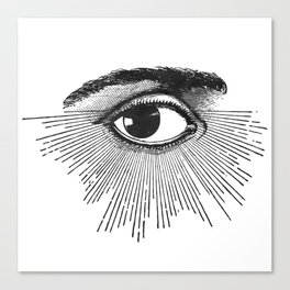 I See You. Black and White Canvas Print