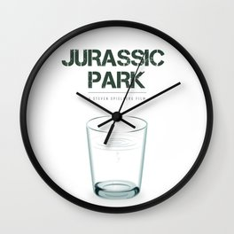 Jurassic Park - Alternative Movie Poster Wall Clock
