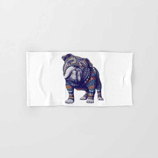 English Bulldog (Color Version) Hand & Bath Towel