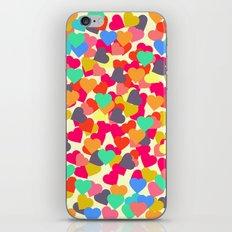 Rain of hearts iPhone & iPod Skin
