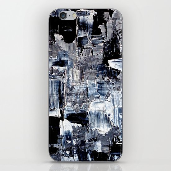 50 Shades... - black & white abstract painting iPhone & iPod Skin