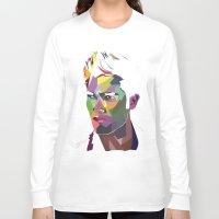 derek hale Long Sleeve T-shirts featuring Derek Hale Mosaic Portrait by Liz Swezey