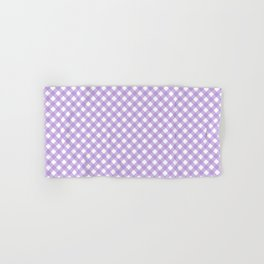 Checkered Lilac Gingham Hand & Bath Towel