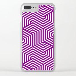 Purple (web) - purple - Minimal Vector Seamless Pattern Clear iPhone Case