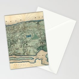 Egbert Viele 1865 Topographic Map of New York City Stationery Cards