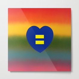 Equality is Love Metal Print